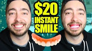 Trying $20 Instant Smile Veneers! | AS SEEN ON TV |