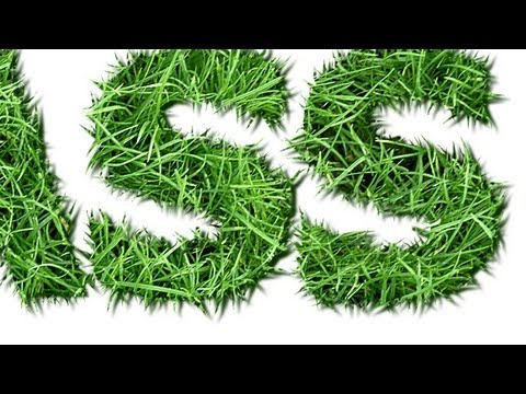 Grass Text Effect - GIMP 2.8.6 Tutorial