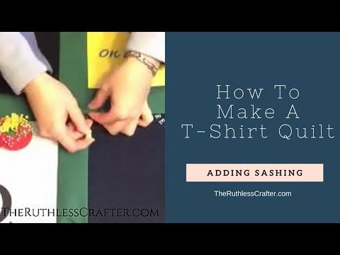 How To Make A T-Shirt Quilt: Adding Sashing