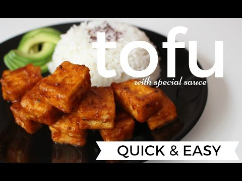 QUICK & EASY TOFU WITH SPECIAL SAUCE VEGAN OF COURSE | WWW.LONDONAFROVEGAN.COM