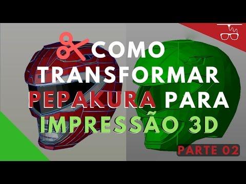 Como transformar Pepakura para Impressão 3D - Parte 2