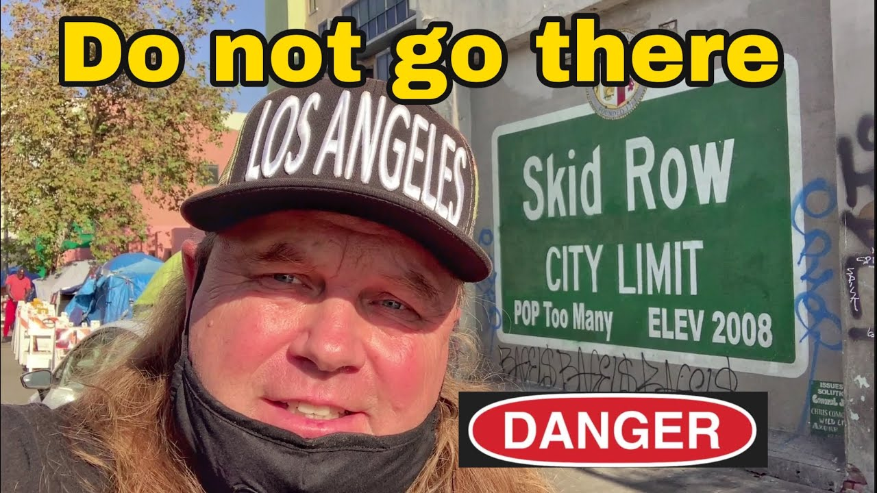 Homeless encampment the real skid row Downtown Los Angeles california