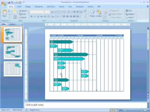 Transfer Gantt charts from MS Project to MS Power Point