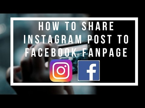How to share Instagram Post to Facebook Fanpage 2017
