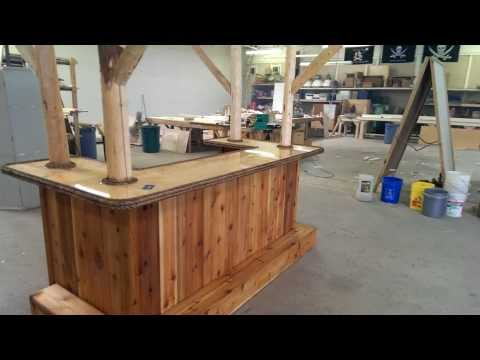 4x8 Tiki Bar at shop for Merk, Sharp & Dome golf outing