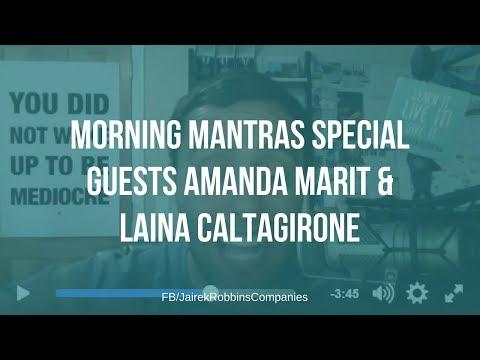 FB Live Repost: MORNING MANTRAS special guests Amanda Marit & Laina Caltagirone