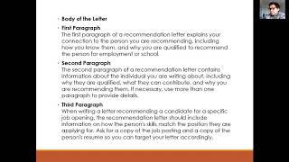 Letter Of Recommendation And Reference Letter- Part 2