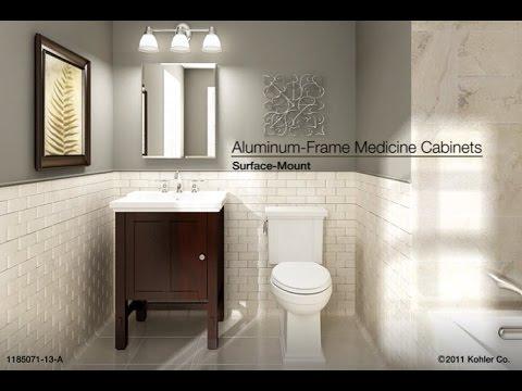 Installation - Surface-Mount Aluminum-Frame Medicine Cabinets