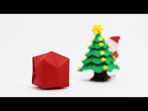 Origami Santa Claus Bag (traditional Waterbomb)