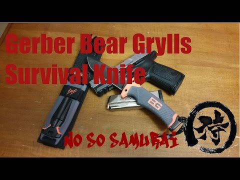 Review of the Gerber Bear Grylls Ultimate Fine Edge Survival Knife and my S&W SD9 VE