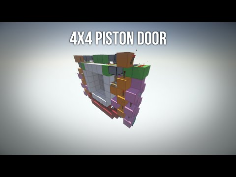 [1.5+] TUTORIAL: 4x4 Piston Door [Fast | Synced | Compact | Cheap]