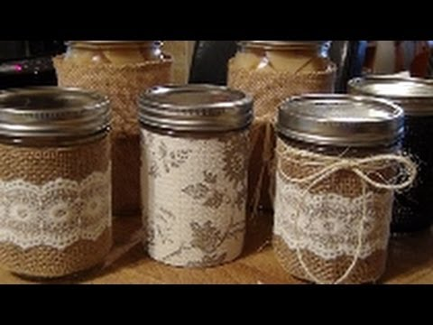 How To Make No Sew Jar Covers!
