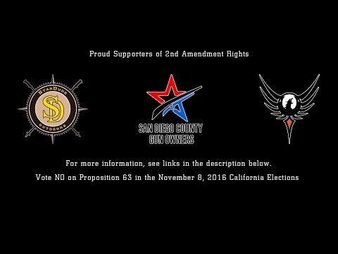 No on CA Prop 63 - San Diego Gun Owners Press Release - Ryan Peterson Speech
