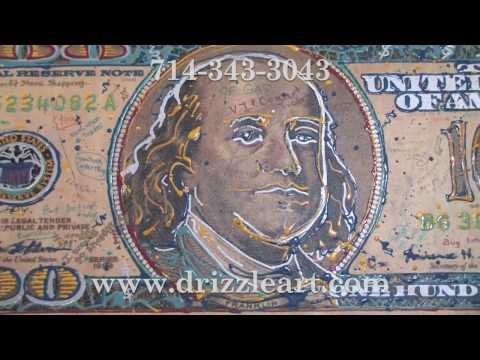 Check This Out! Giant Hundred Dollar Bill Pop Art Painting By Robert Holton