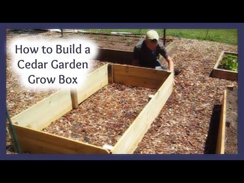 Build a Cedar Garden Box for about $8.00