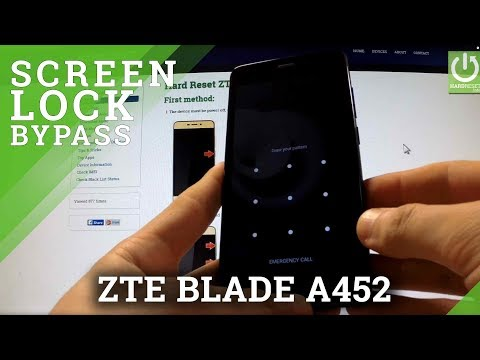 Hard Reset ZTE BLADE A452 - reset and bypass Screen Lock