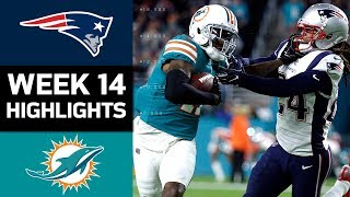 Patriots vs. Dolphins | NFL Week 14 Game Highlights