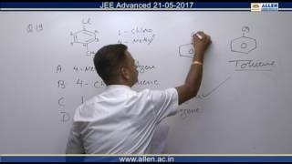 JEE Advanced 2017 Chemistry Solution Q. 19, 21 (Paper-1) Code-9
