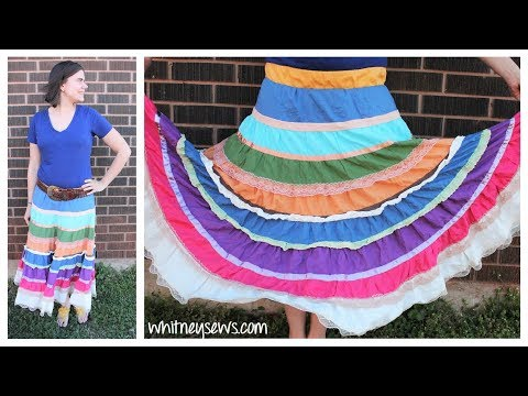 Ruffled Skirt Refashion | Resize from 1X to M | Whitney Sews