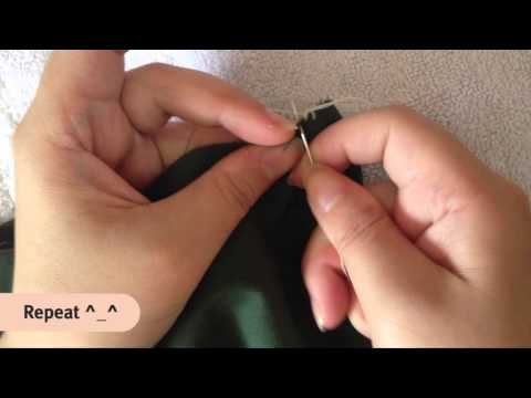 How to Sew Overlock Stitch by Hand