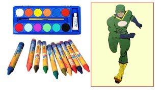 Tô Màu 5 Anh Em Siêu Nhân Đẹp Nhất ✿ Chiến Binh Xanh La Cây ☼  By BiBo