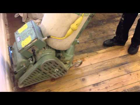 old pine floor restoration