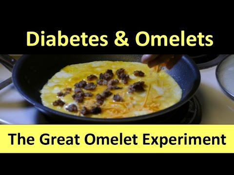 Beat Diabetes: Blood Sugar Tests involving 2 kinds of egg omelets.