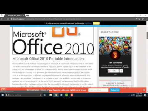 How to Download Microsoft(MS) office 2010 from tensoftwares.com