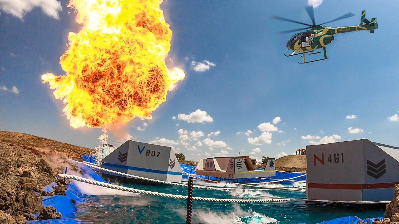 Helicopter Battleship Battle | Dude Perfect