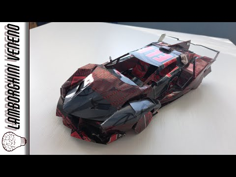 Lamborghini VENENO made from cans (Powered by Hell Energy)