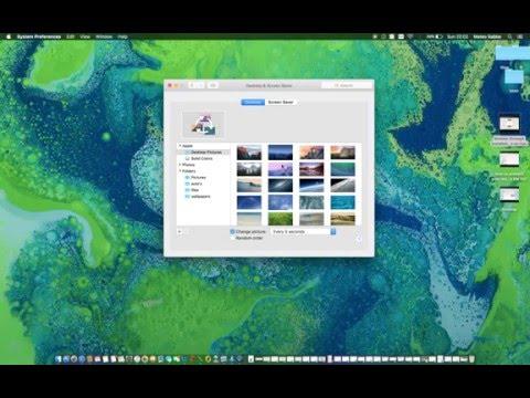 how to change desktop wallpaper every few seconds on mac?