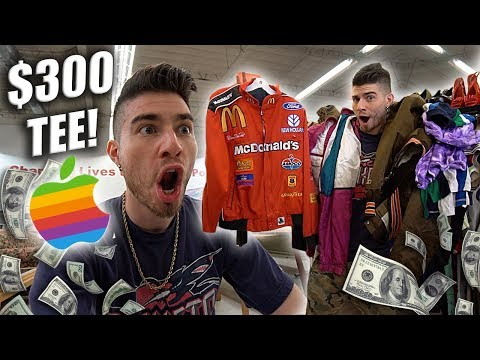 I THRIFTED A $300 T-SHIRT! Trip to the Thrift #226