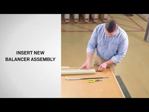 Balancer with Shoe Replacement on Andersen® E-Series® Double-Hung Windows