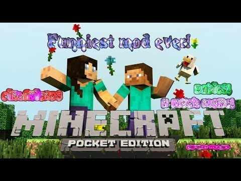 Girlfriends, babies and much more Minecraft PE funniest mod ever!