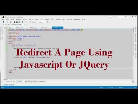 How To Redirect A Page Using Javascript Or JQuery