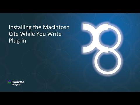 Installing the Macintosh CWYW Plug-in