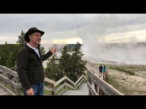 Big Mountain Studio Intro at Yellowstone Fail - Geyser stopped!