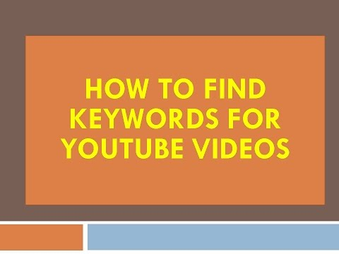 [Telugu] How To Find The Keywords For Youtube Videos 2016