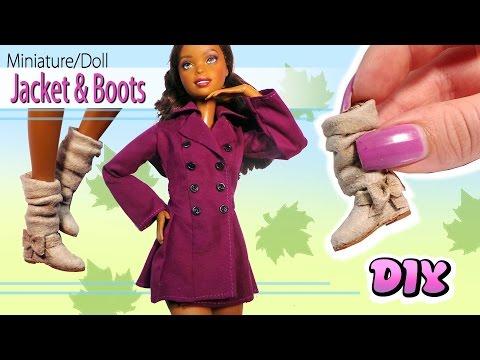 Miniature/Doll Jacket & Boots Tutorial // DIY Dolls/Dollhouse