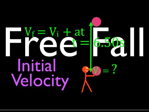 Physics, Kinematics, Free Fall (7 of 12) Initial Velocity for Known Time in the Air