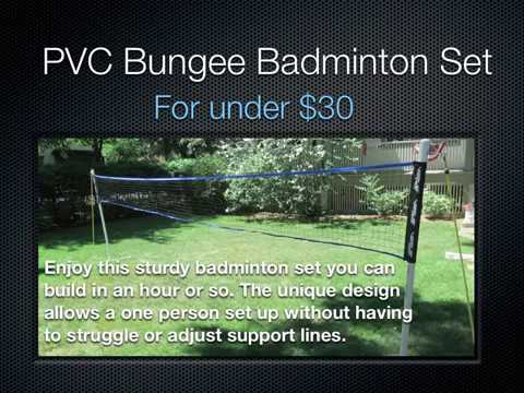 How to build a Badminton Set PVC and Bungee