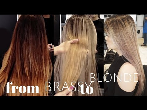 from BRASSY to ASH BLONDE HAIR