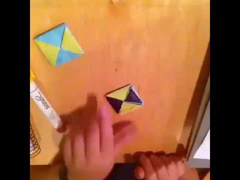 How to make a index card spinning top