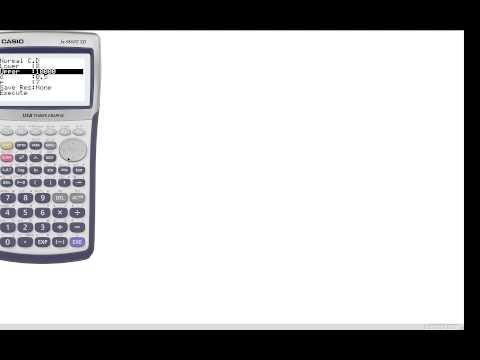 Casio fx 9860G   Normal Distribution