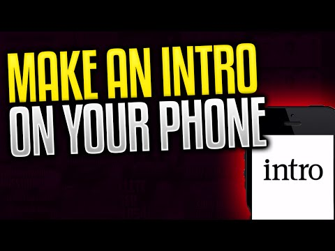 How To Make An Intro Using iMovie For iOS 2016! iPod/iPad/iPhone!