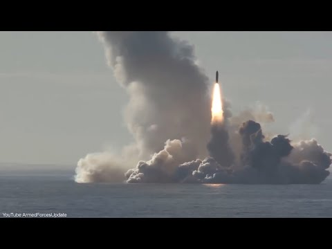 Russian Navy Submarine Launches 4 MISSILES AT THE ONE TIME  in training exercise