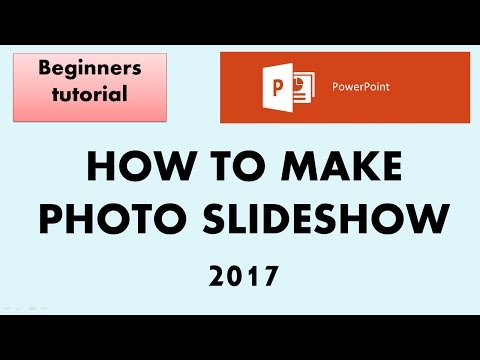 How to make photo slideshow in powerpoint  2017 - Beginners tutorial
