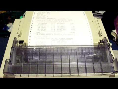 OKI Microline 320 Turbo - Printing a Long Document