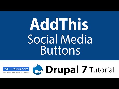 Drupal 7 - How To Add AddThis Social Media Sharing Tools