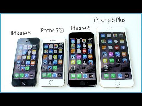 Comparaison : iPhone 6 Plus vs. iPhone 6 vs. iPhone 5s vs. iPhone 5 / 5c vs. iPhone 4s vs. iPhone 4